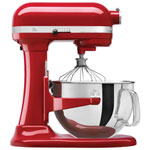 Batteur sur socle à bol relevable Professional 600 de KitchenAid - 6 pte - 575 W - Empire rouge
