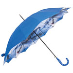 Austin House Double-Layer Canopy Stick Umbrella - Blue
