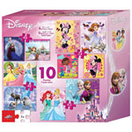 Disney Girls 10-in-1 Puzzle Set - 414 Pieces