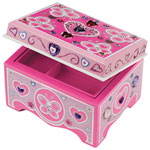 Melissa & Doug Decorate-Your-Own Wooden Jewelry Box - Pink