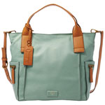 Fossil Emerson Leather Satchel - Sea Glass