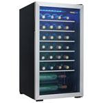 Refroidisseur à vin autonome 36 bouteilles 3,3 pi3 de Danby (DWC93BLSDBR1) - Noir et garnitures inox