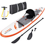 Blue Wave Sports Stingray 10 ft. Inflatable Stand Up Paddleboard with Paddle & Hand Pump - Orange