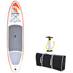 Blue Wave Sports Stingray 11 ft. Inflatable Stand Up Paddleboard with Paddle & Hand Pump - Orange