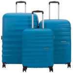 American Tourister Wavebreaker 3-Piece Hard Side 4-Wheeled Luggage Set - Summer Sky