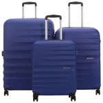 Ensemble de 3 valises rigides à Wavebreaker d'American Tourister - Bleu nautique