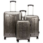 Samsonite Carbon 3-Piece Luggage Set - Silver/Black