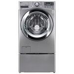 LG 5.2 Cu. Ft. High Efficiency Front Load Steam Washer (WM3670HVA) - Silver