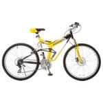 Vélo de montagne de 48,2 cm à 21 vitesses Glacier Pro de Titan - Jaune - Blanc - Noir