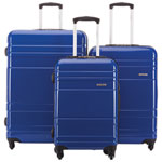 Samsonite Caribbea 3-Piece Hard Side 4-Wheeled Luggage Set - Blue