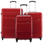 Ensemble de 3 valises rigides Caribbea de Samsonite - Rouge