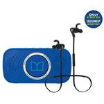 Monster Superstar Bluetooth Wireless Speaker & iSport In Ear Wireless Headphone Bundle - Black/Blue - Only at Best Buy