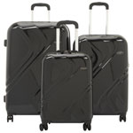 Samsonite Plymouth DLX 3-Piece Hard Side 4-Wheeled Luggage Set - Black