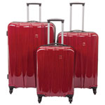 Swiss Gear Extravagance II 3-Piece Hard Side 4-Wheeled Expandable Luggage Set - Red