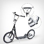 HOMCOM Adult Teen Kick Scooter Kids Children Stunt Scooter Bike Bicycle Ride On 16inch Pneumatic Tyres