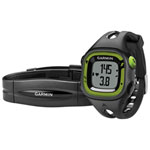 Garmin Forerunner 15 GPS Running Watch with Heart Rate Monitor Bundle - Green/Black