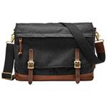 Fossil Defender 21L Messenger Bag - Black