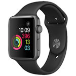 Apple Watch Series 2 42mm Space Grey Aluminum Case with Black Sport Band