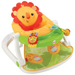 Fisher-Price Sit-Me-Up Floor Seat with Tray - Green/Yellow