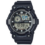 Casio 54mm Men's Analog/Digital Sport Watch (AEQ-200W-1AV) - Black/Grey