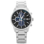 Lorus 42mm Men's Analog Sport Watch with Chronograph - Silver/Black