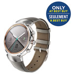 """ASUS ZenWatch 3 1.39"""" Smartwatch - Silver/Beige - Only at Best Buy"""