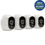 NETGEAR Arlo Wireless Indoor/Outdoor Security System with 4 720p Cameras - White - Refurbished