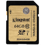 Carte mémoire SDXC UHS-I classe 10 de 90 Mo/s de 64 Go de Kingston