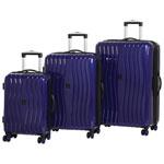 IT Luggage Doppler 3-Piece Hard Side 8-Wheeled Expandable Luggage Set - Blue