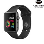 Apple Watch Series 2 42mm Space Grey Aluminum Case with Black Sport Band - Open Box