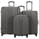 Kenneth Cole Reaction Gramercy 3-Piece Hard Side Luggage Set - Pewter