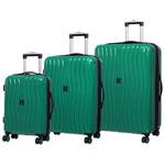 IT Luggage Doppler 3-Piece Hardside 8-Wheeled Expandable Luggage Set - Shady Green