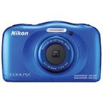 Nikon COOLPIX W100 Waterproof/Shockproof 13.2MP 3x Optical Zoom Digital Camera - Blue