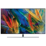 "Samsung 55"" 4K UHD HDR QLED Tizen Smart TV (QN55Q7FAMFXZC) - Sterling Silver"