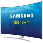 "Samsung 75"" 4K UHD HDR Curved QLED Tizen Smart TV (QN75Q8CAMFXZC) - Sterling Silver"