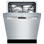 "Bosch 300 Series 24"" 44dB Built-In Dishwasher with Stainless Steel Tub & Third Rack -Stainless Steel"