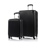 CHAMPS Luggage Tourist Collection 2-Piece Hard Side 4-Wheeled Expandable Luggage Set - Black