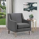 Augusta Transitional Polyester Accent Chair - Charcoal