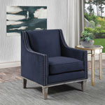 Augusta Transitional Accent Chair - Navy