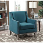 Augusta Transitional Polyester Accent Chair - Teal