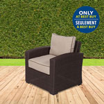 Lioni Tropea Club Patio Arm Chair - Beige/Buckeye Brown - Only at Best Buy