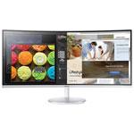 "Samsung 34"" WQHD 100Hz 4ms VA LED Curved Gaming Monitor (LC34F791WQNXZA) - White"