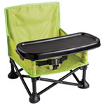Summer Infant Pop n' Sit Portable Booster Seat with Tray - Green