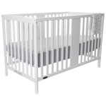Kidiway Gabby 4-in-1 Convertible Crib - White