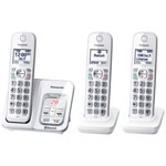 Panasonic Link2Cell 3-Handset DECT 6.0 Bluetooth Cordless Phone with Answering Machine (KXTGD593W)