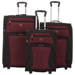 Swiss Gear Seymour 3-Piece Soft Side 2-Wheeled Expandable Luggage Set - Red/Black