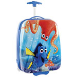 "Heys Finding Dory 18"" Hard Side 2-Wheeled Kids Luggage - Blue/Yellow"
