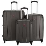 SWISSGEAR Protector 3-Piece Hard Side 4-Wheeled Luggage Set - Charcoal