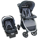 Eddie Bauer Alpine 4 Travel System Standard Stroller with onBoard 35 Infant Car Seat - Grey