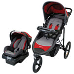 Eddie Bauer TrailGuide Travel System Jogger Stroller with onBoard 35 Infant Car Seat - Tango Red